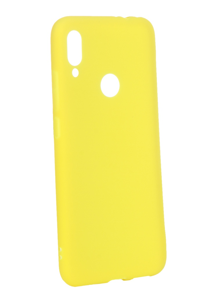Аксессуар Чехол Zibelino для Xiaomi Redmi Note 7 2019 Soft Matte Yellow ZSM-XIA-RDM-NOT7-YEL