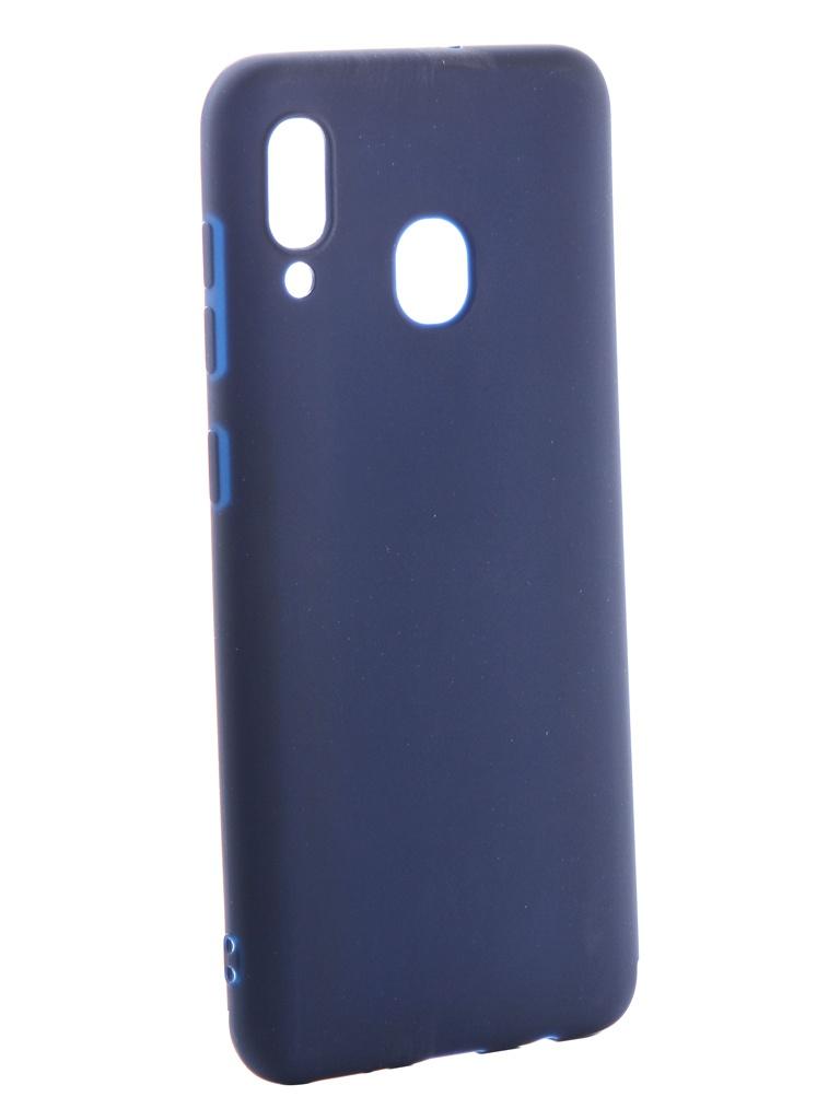 Аксессуар Чехол Neypo для Samsung Galaxy A20 2019 Soft Matte Silicone Dark Blue NST11770