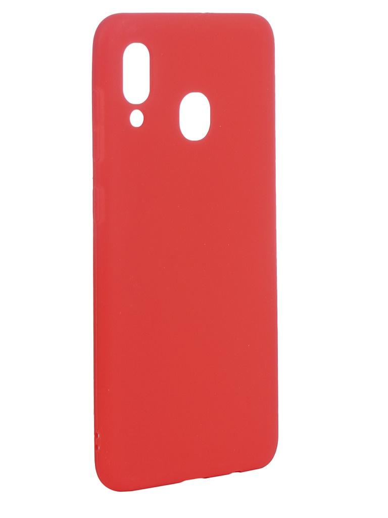 Аксессуар Чехол Neypo для Samsung Galaxy A30 2019 Soft Matte Silicone Red NST11685