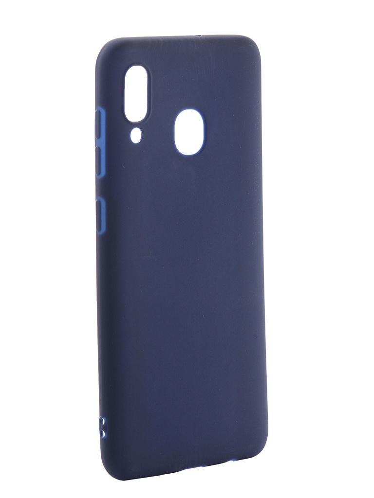 Чехол Neypo для Samsung Galaxy A30 2019 Soft Matte Silicone Dark Blue NST11687