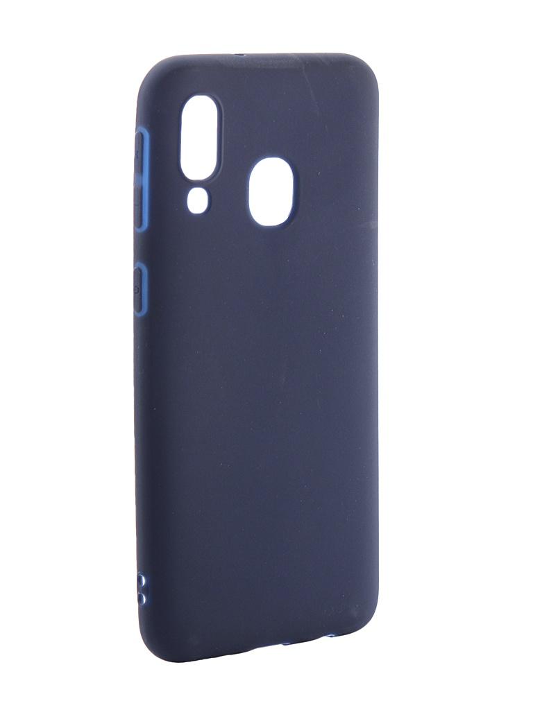 Аксессуар Чехол Neypo для Samsung Galaxy A40 2019 Soft Matte Silicone Dark Blue NST11691