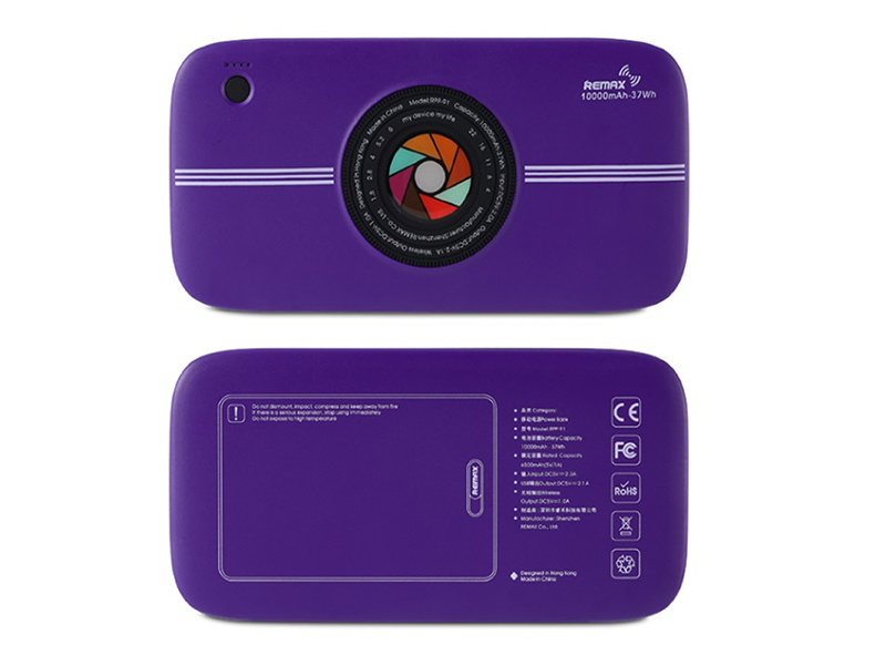 Внешний аккумулятор Remax Power Bank RPP-91 10000mAh Wireless Camera Purple