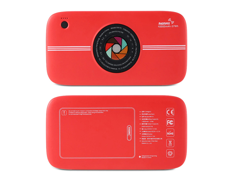 Аккумулятор Remax Power Bank RPP-91 10000mAh Wireless Camera Red