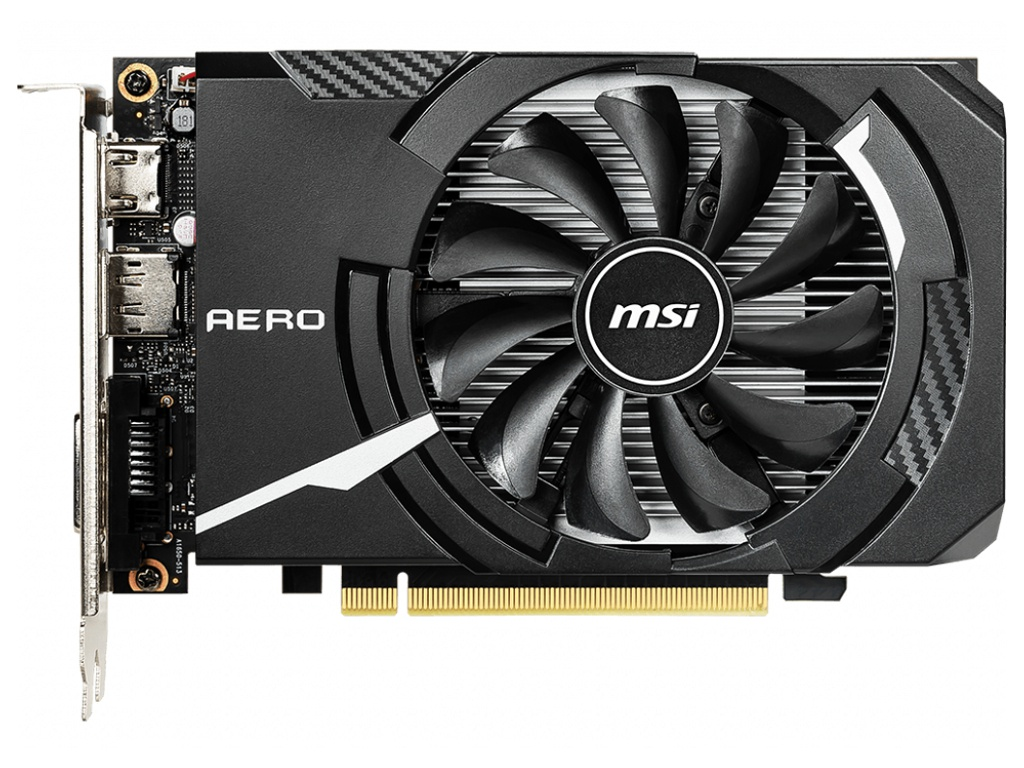 Видеокарта MSI GeForce GTX 1650 1665Mhz PCI-E 3.0 4096Mb 8000Mhz 128 bit HDMI DVI-D HDCP AERO ITX OC
