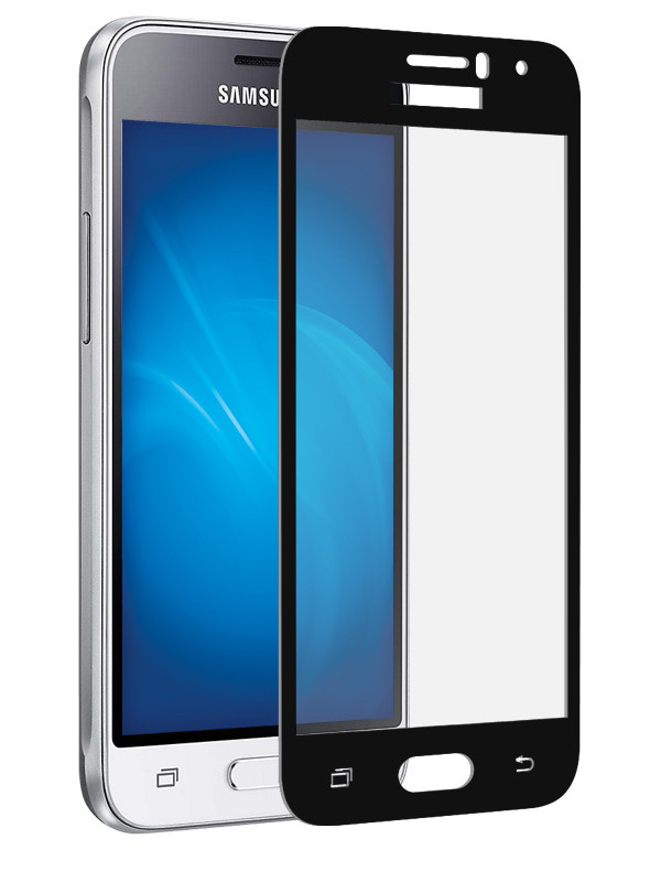 Аксессуар Защитное стекло Dekken для Samsung Galaxy J1 2016 Full Screen Full Glue 2.5D 9H 0.33mm Black Frame 20935 аксессуар защитное стекло для samsung galaxy j2 prime g532 dekken 2 5d 9h 0 26mm 20388