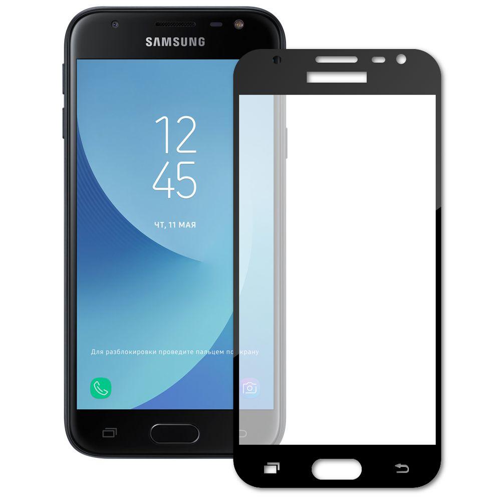 Аксессуар Защитное стекло Dekken для Samsung Galaxy J3 2017 Full Screen Full Glue 2.5D 9H 0.33mm Black Frame 20932 аксессуар защитное стекло для samsung galaxy j2 prime g532 dekken 2 5d 9h 0 26mm 20388