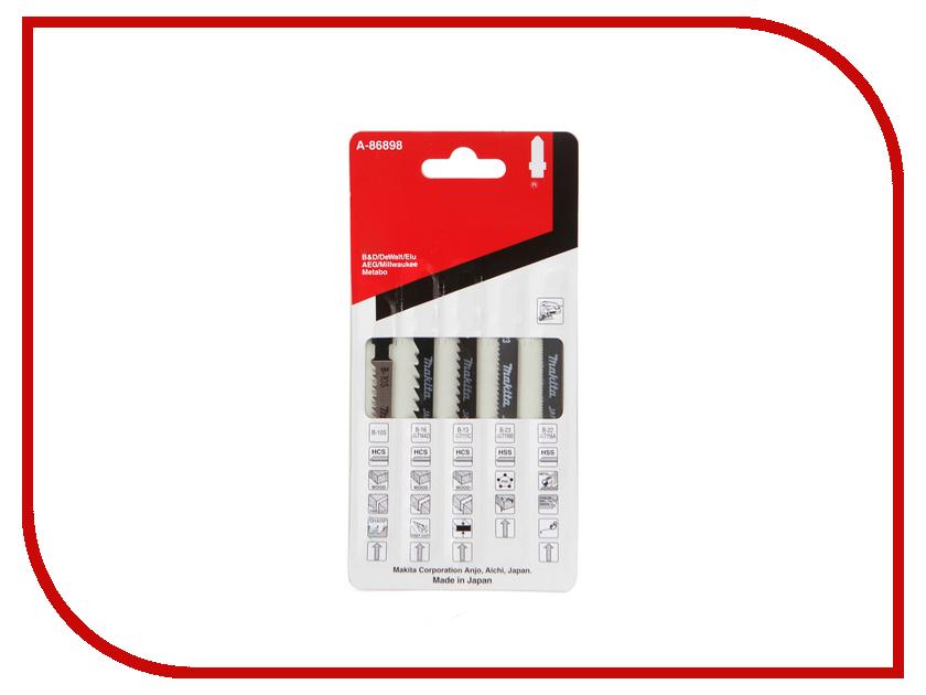 Пилка Makita для древесины, металла и синтетических материалов 5шт A-86898