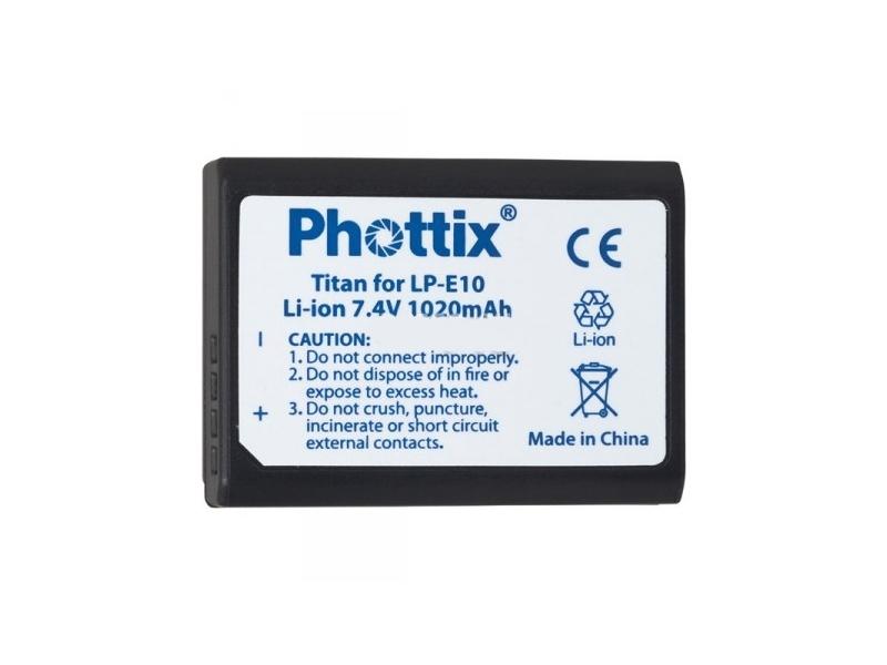 Аккумулятор Phottix LP-E10