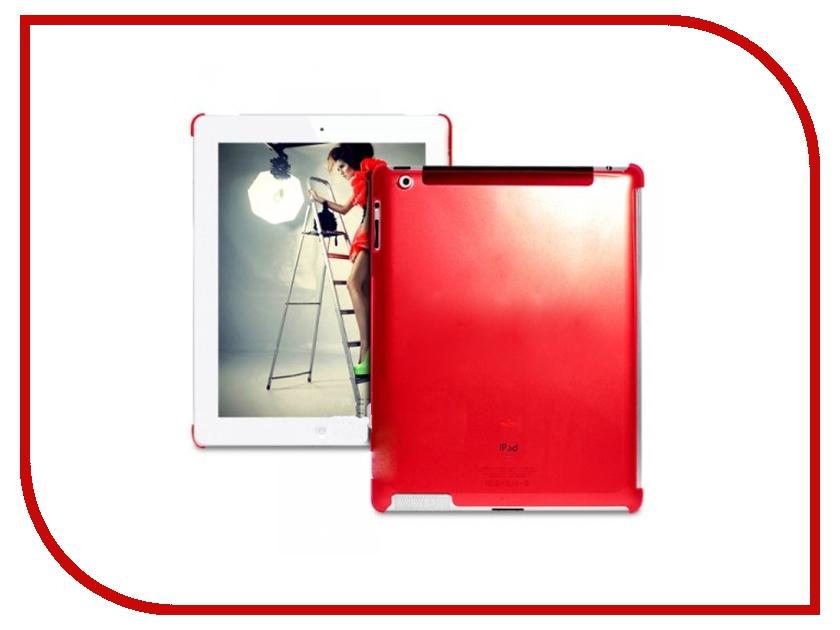 Аксессуар Чехол PURO Crystal Cover Fluorescent for iPad 2 / iPad 3 NEW пластик, совместим со Smart Cover Red<br>
