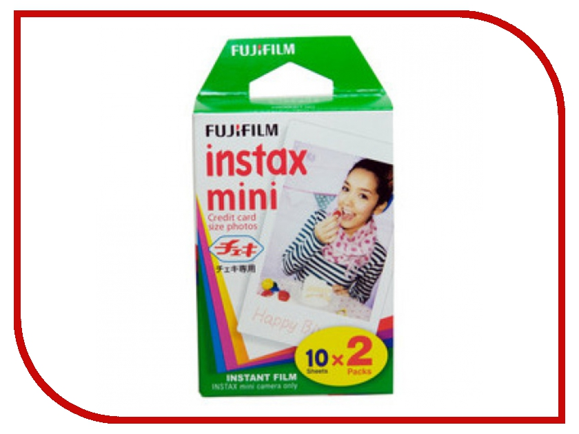 Fujifilm Glossy 10/2PK для Instax mini 8/7S/25/50S/90 / Polaroid 300 Instant 16386016 brand new fujifilm instax camera mini 90s black instant mini film camera free shipping