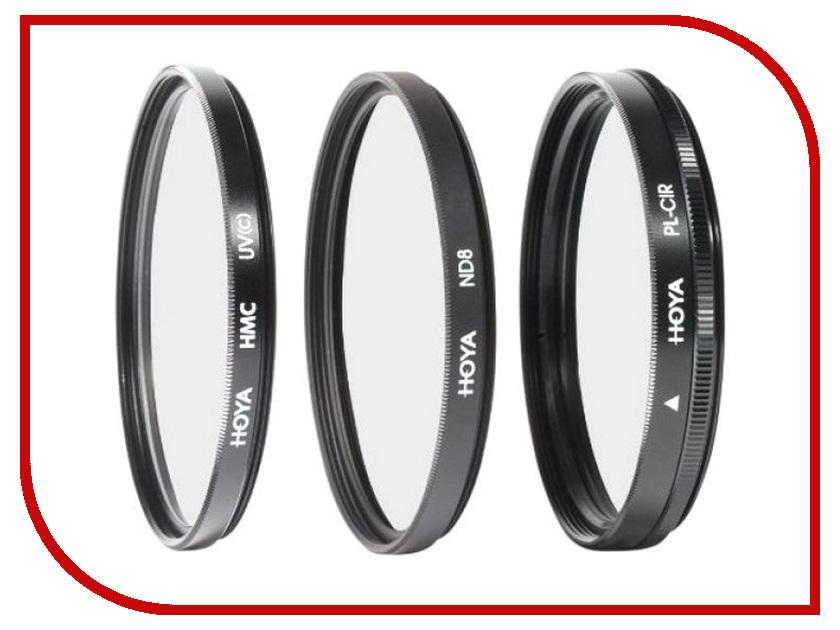 Светофильтр HOYA Digital Filter Kit HMC MULTI UV, Circular-PL, NDX8 - 52mm - набор светофильтров 79497 hoya hmc uv c 67mm