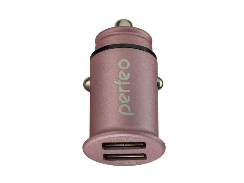 Фото - Зарядное устройство Perfeo Auto 2 2xUSB 2.4А Pink PF_A4458 зарядное