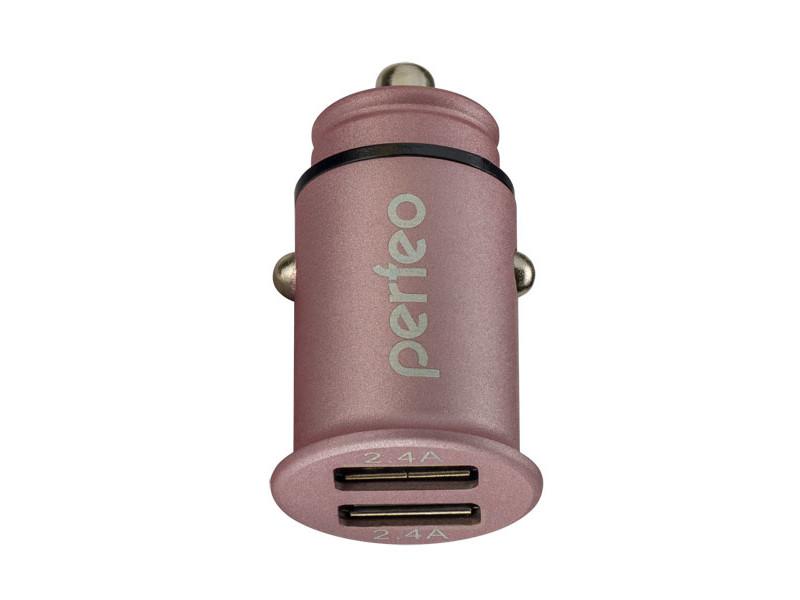 Зарядное устройство Perfeo Auto 2 2xUSB 2.4А Pink PF_A4458