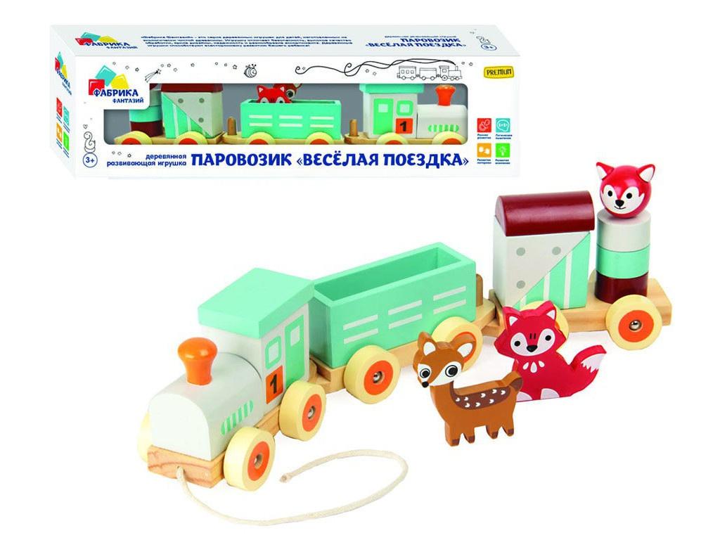 Деревянная игрушка Фабрика Фантазий Веселая поездка 72673