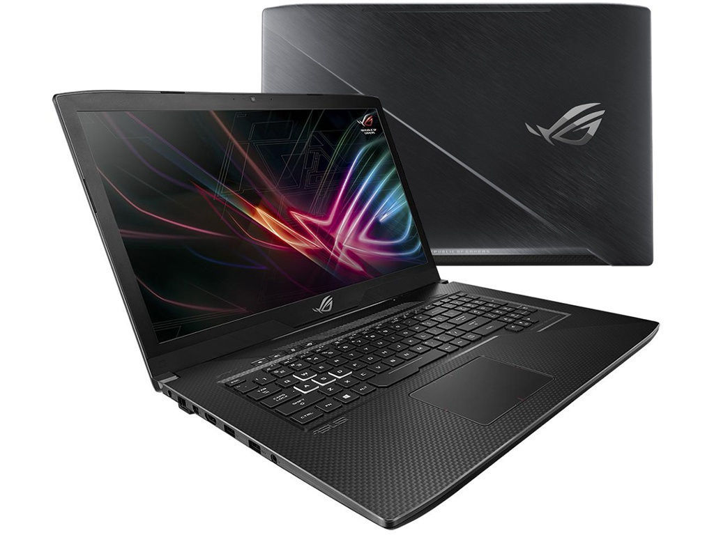 цена на Ноутбук ASUS ROG GL703GE 90NR00D1-M04520 (Intel Core i7-8750H 2.2GHz/8192Mb/1000Gb + 256Gb SSD/No ODD/nVidia GeForce GTX 1050 Ti 4096Mb/Wi-Fi/Cam/17.3/1920x1080/Windows 10 64-bit)