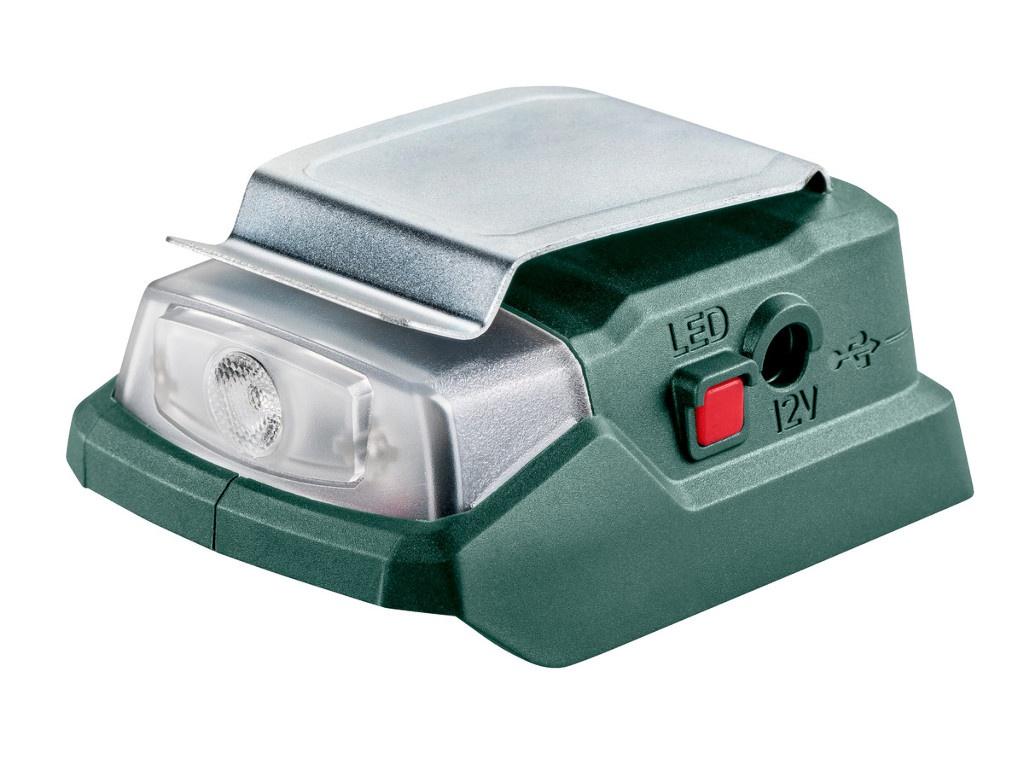 цена на Аккумуляторный адаптер питания Metabo PowerMaxxPA12LED-USB + фонарь 600298000