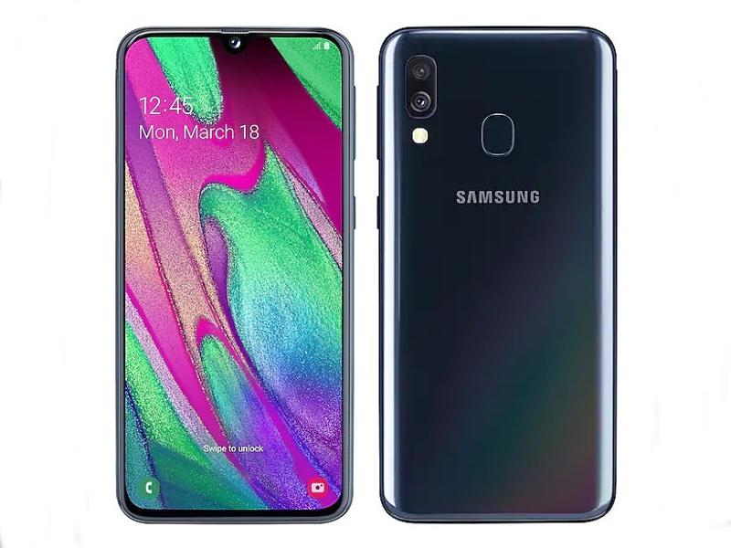 Сотовый телефон Samsung SM-A405F Galaxy A40 4Gb/64Gb Black Выгодный набор + серт. 200Р!!! сотовый телефон samsung sm a515f galaxy a51 4gb 64gb black