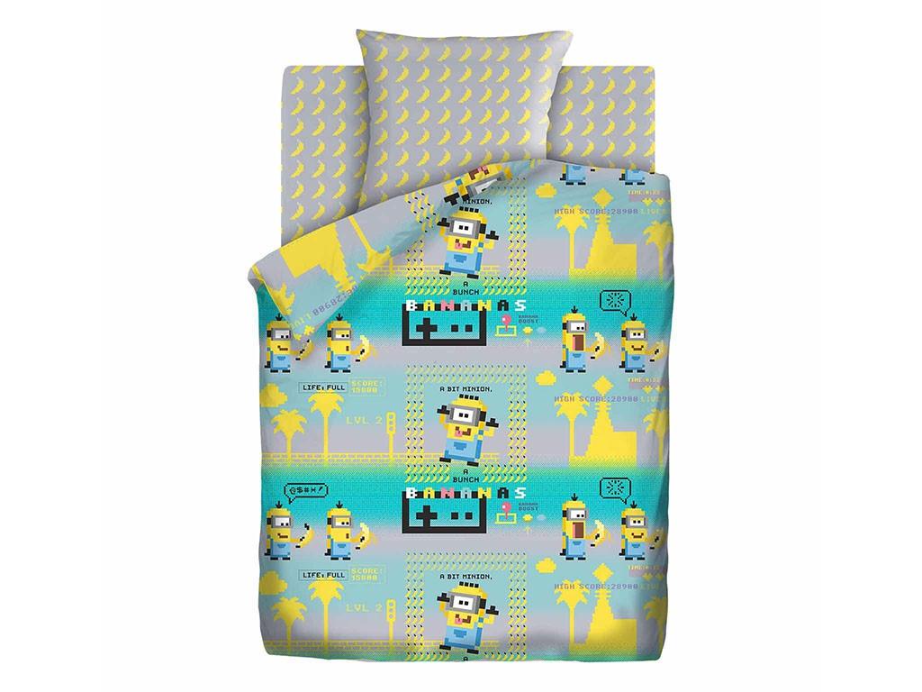 Постельное белье ПромТоргСервис Миньоны / Пиксели Комплект 1.5 спальный Бязь 577957