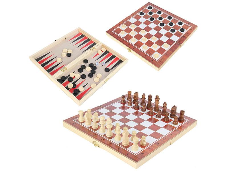 Игра Veld-Co 3в1 Шахматы, шашки, нарды 79673