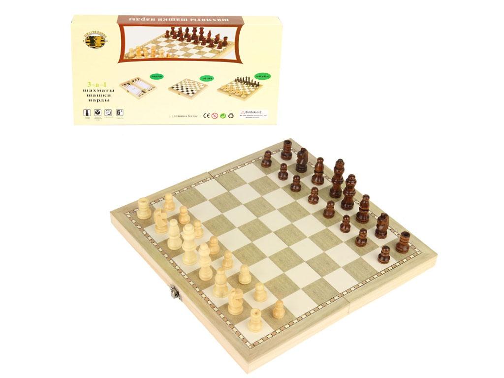 Игра Veld-Co 3в1 Шахматы, шашки, нарды 71968