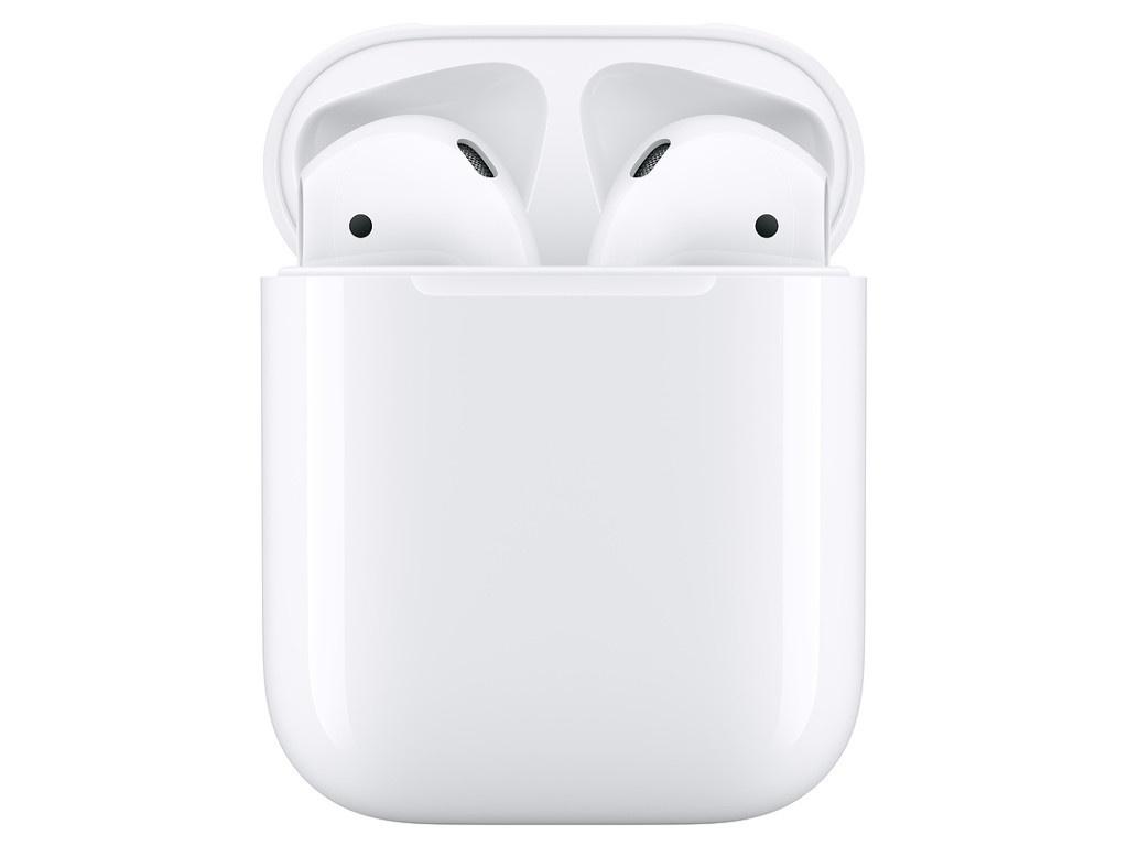 Наушники Apple AirPods (ver2) Ultra Slim Silicone Blue Horizon Case в зарядном футляре MV7N2RU/A Выгодный набор + серт. 200Р!!!