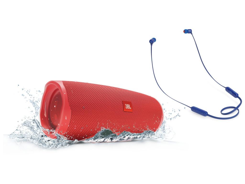 Колонка JBL Charge 4 Red + наушники T110BT Blue
