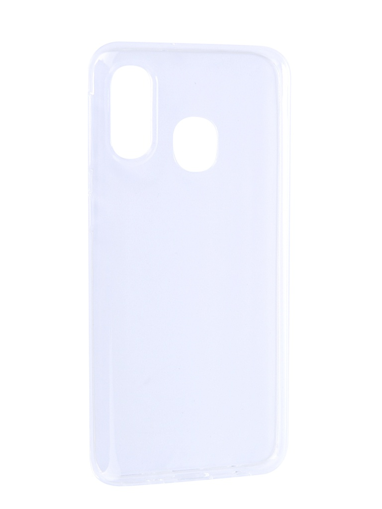 Чехол Brosco для Samsung Galaxy A40 Silicone Transparent SS-A40-TPU-TRANSPARENT