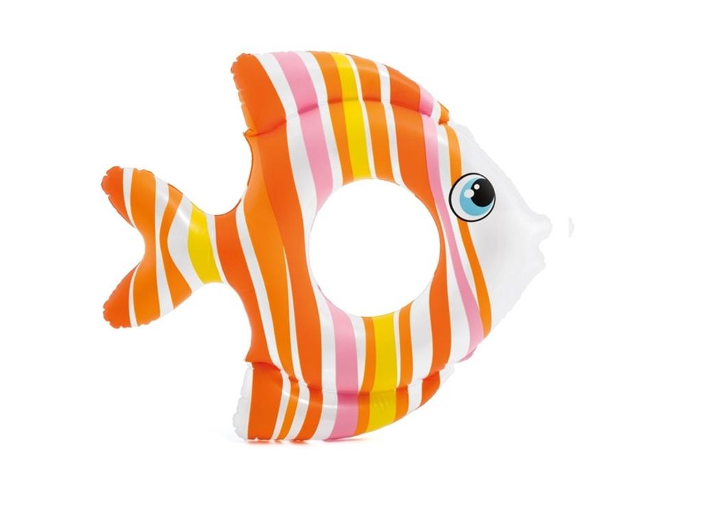 Надувной круг Intex Тропические рыбки 59223
