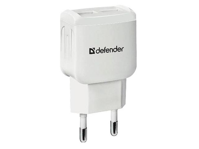 Зарядное устройство Defender UPA-22 2xUSB White 83580 зарядное