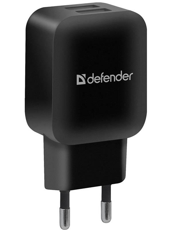Зарядное устройство Defender EPA-13 2xUSB Black 83840