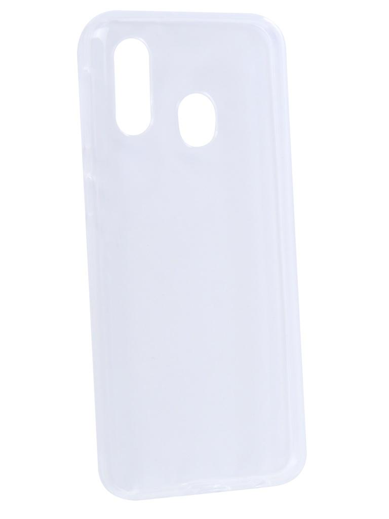 Аксессуар Чехол Svekla для Samsung A40 Silicon Transparent SV-SGA405FD-WH
