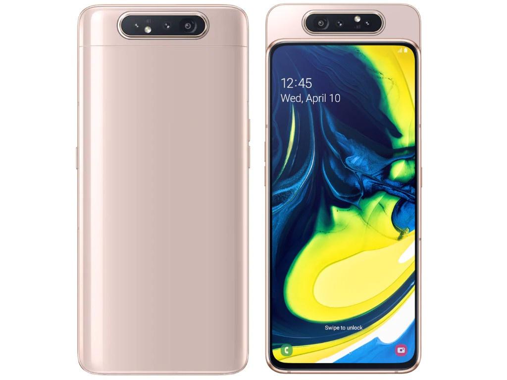 Сотовый телефон Samsung SM-A805F Galaxy A80 2019 Gold SM-A805FZDUSER сотовый телефон samsung sm g960fd galaxy s9 64gb gold