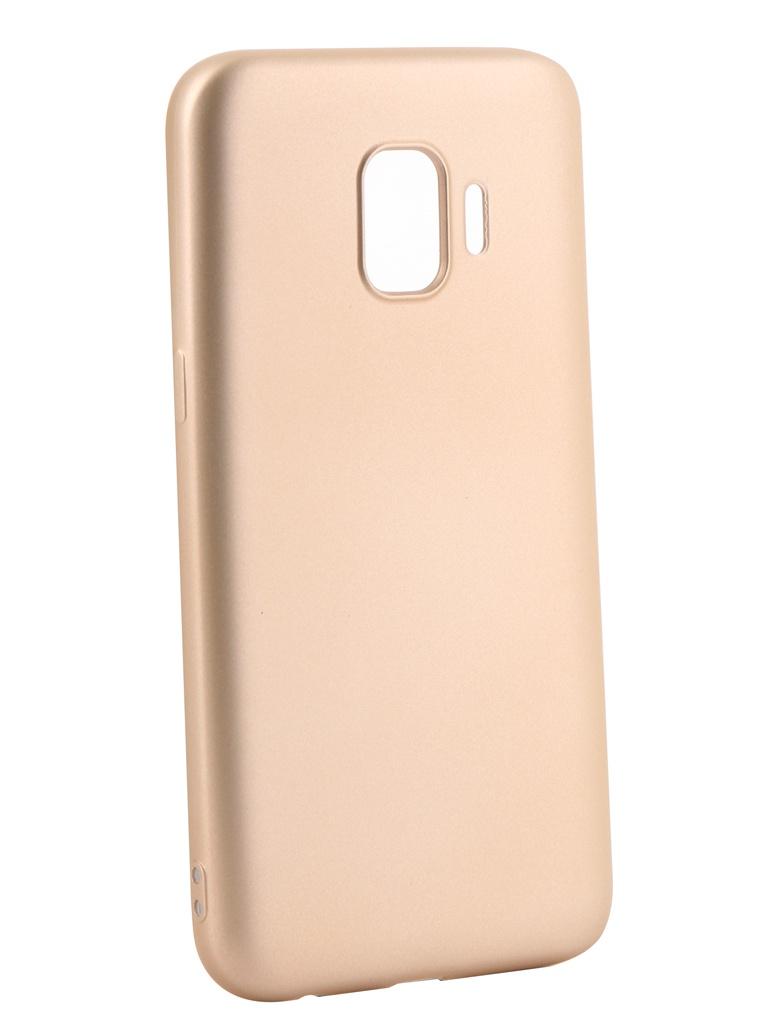 Аксессуар Чехол Gurdini для Samsung Galaxy J2 Core J260 Soft Touch Silicone Champagne 908370 аксессуар чехол книжка для samsung galaxy a9 2018 a920 gurdini premium с силиконом на магните champagne 907592