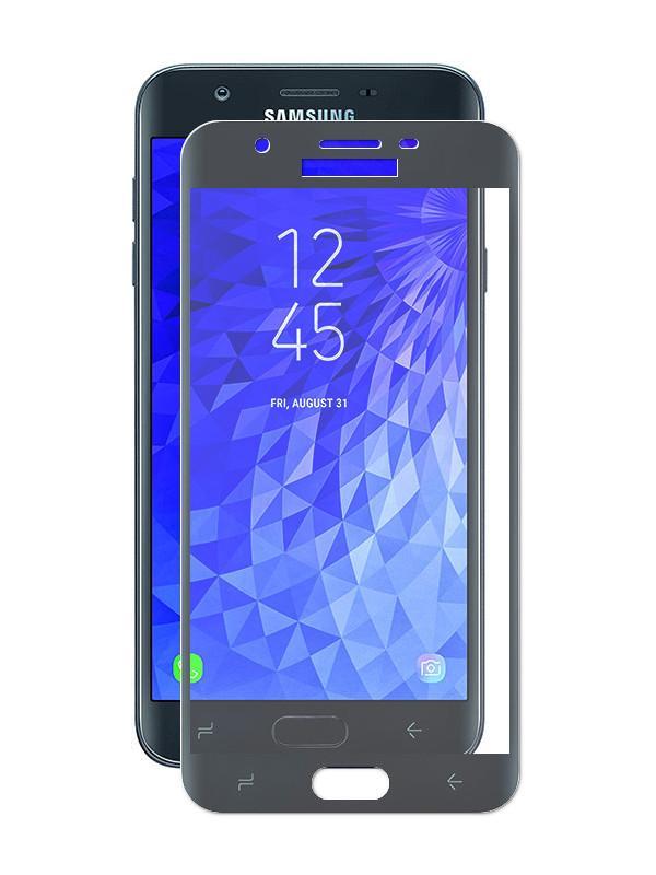 Аксессуар Стекло противоударное Gurdini для Samsung Galaxy J7 Pro 2.5D Black 908087 аксессуар стекло противоударное для samsung galaxy j6 gurdini full glass 2 5d black 907928