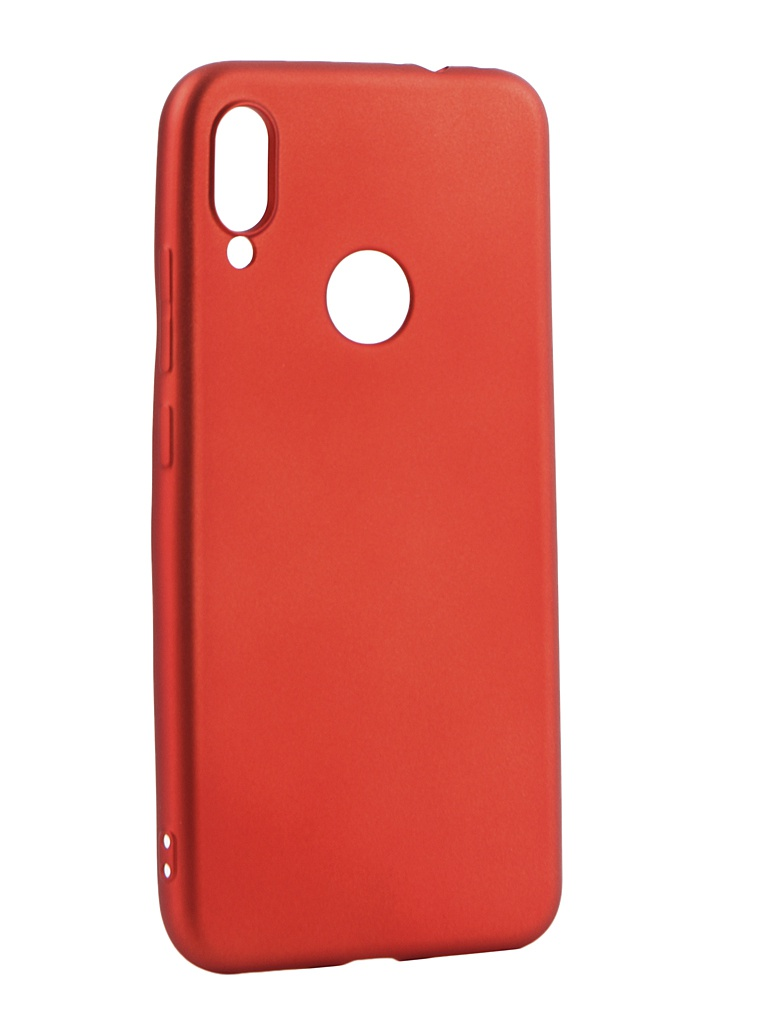 Аксессуар Чехол Gurdini для Xiaomi Redmi Note 7 Soft Touch Silicone Red 908373 аксессуар чехол gurdini soft touch silicone для apple airpods turquoise 906289