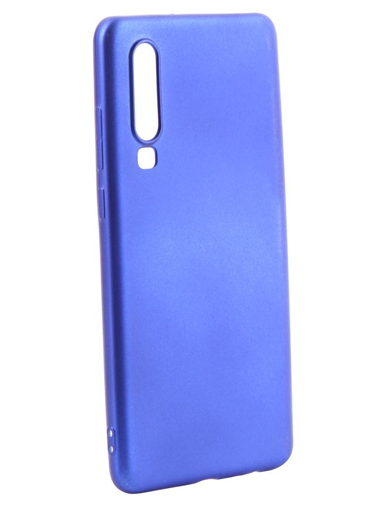 Аксессуар Чехол Gurdini для Huawei P30 Pro Soft Touch Silicone Blue 908382