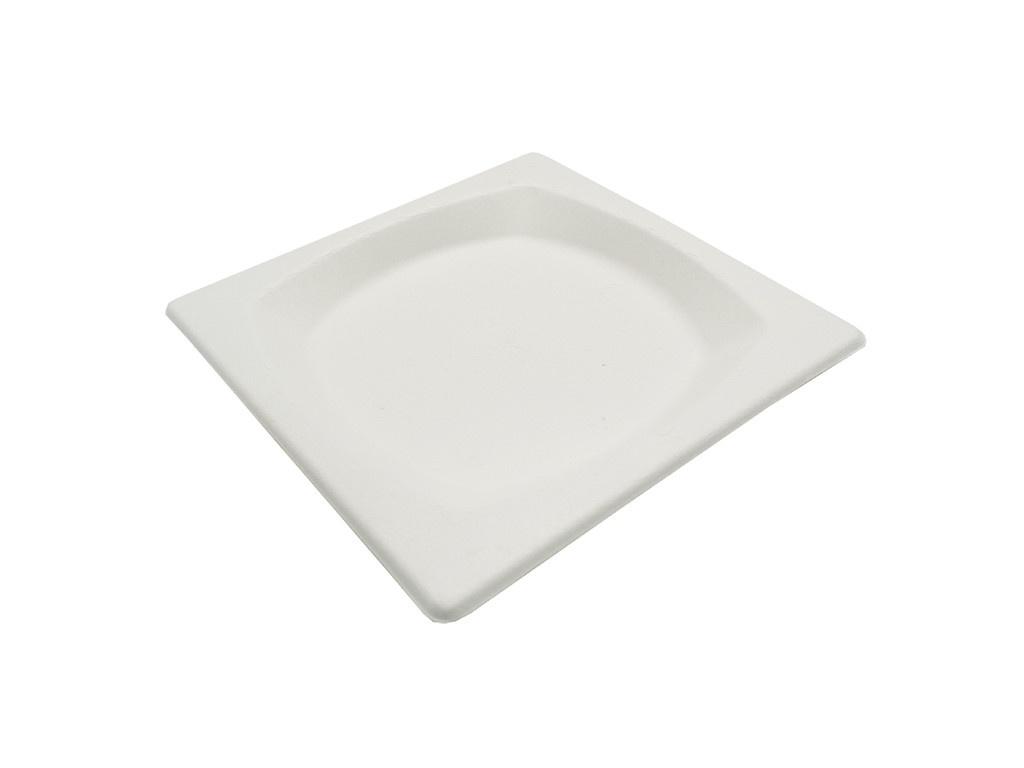 Тарелка квадратная одноразовая Ecovilka 170x170x15mm 125шт TTK170