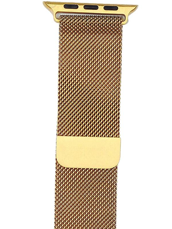 Аксессуар Ремешок Gurdini Milanese Loop для Apple Watch 38mm/40mm New Gold 908106