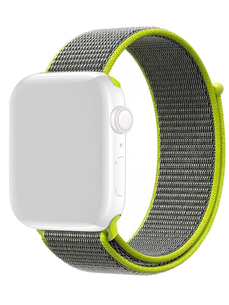 Аксессуар Ремешок Gurdini Sport Loop для Apple Watch 38/40mm Flash 908108 цена и фото
