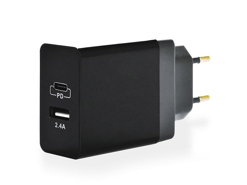 Зарядное устройство iNeez USB-C PD Smart Charge 24W Black 908164