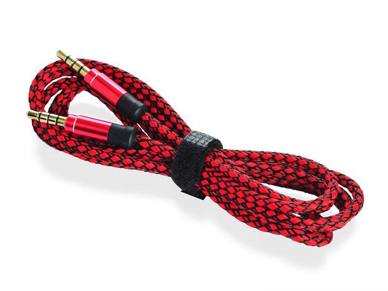 Аксессуар Gurdini AUX 3.5mm - 3.5mm 1.5m Red-Black 908205 аксессуар