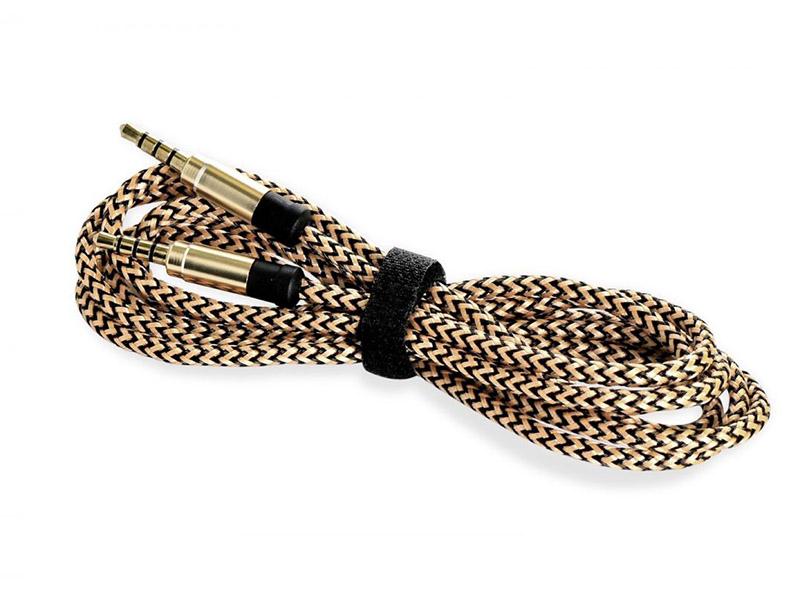 Аксессуар Gurdini AUX 3.5mm - 3.5mm 1.5m Gold-Black 908206 аксессуар