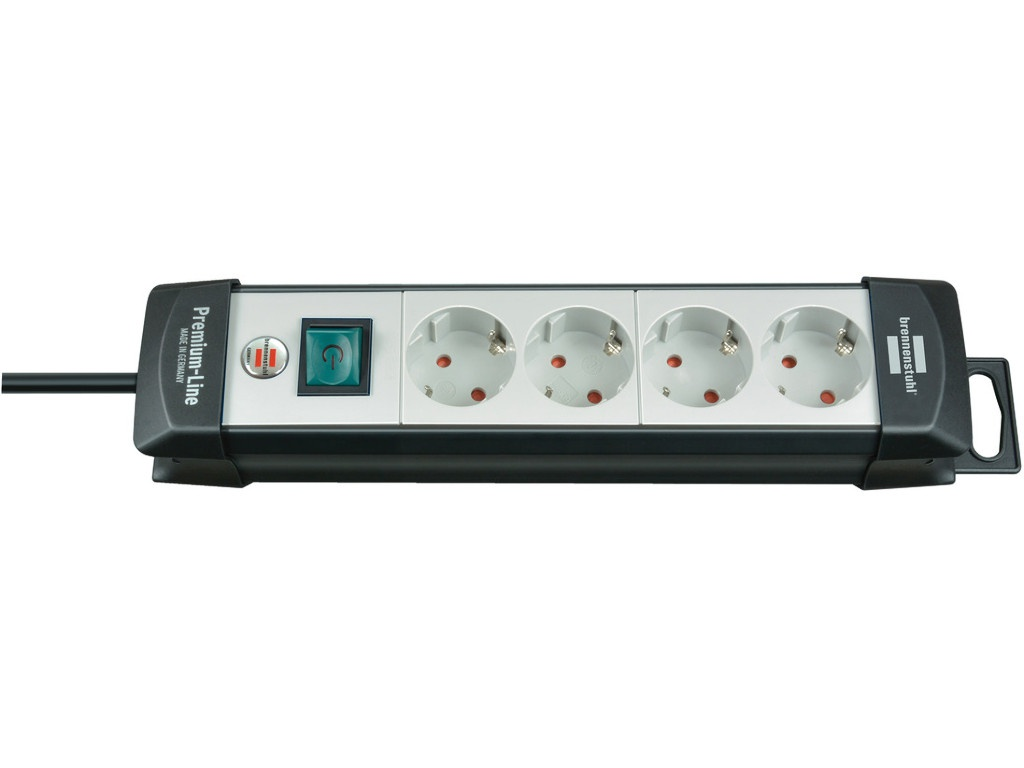 Удлинитель Brennenstuhl Premium-Line 4 Sockets 5m Black-Light Grey 1951540101 удлинитель brennenstuhl premium line 6 sockets 3m light grey 1756550016