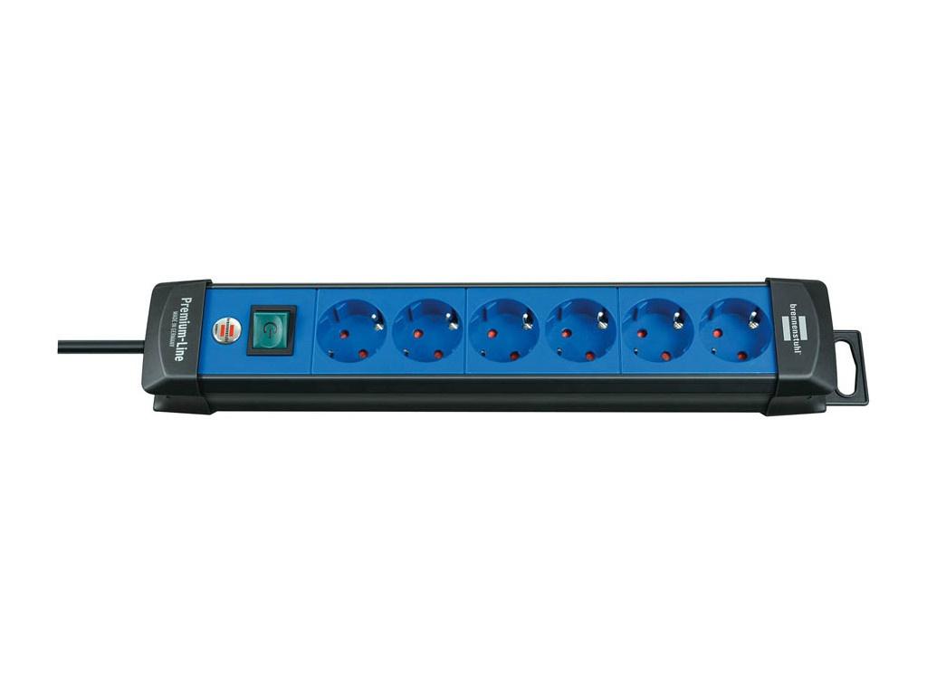 Удлинитель Brennenstuhl Premium-Line 6 Sockets 3m Black-Blue 1951360100