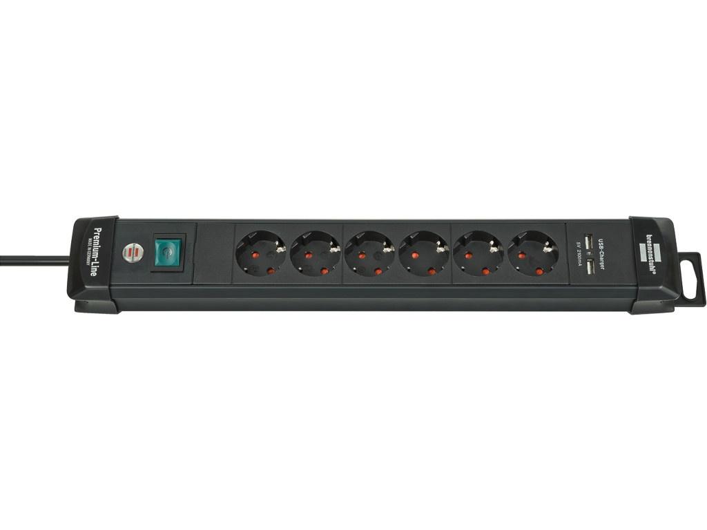 Удлинитель Brennenstuhl Premium-Line 6 Sockets 3m Black 1951160601