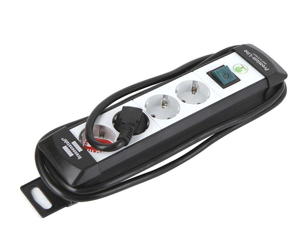 Удлинитель Brennenstuhl Premium-Line 4 Sockets 1.8m Grey 1755150014