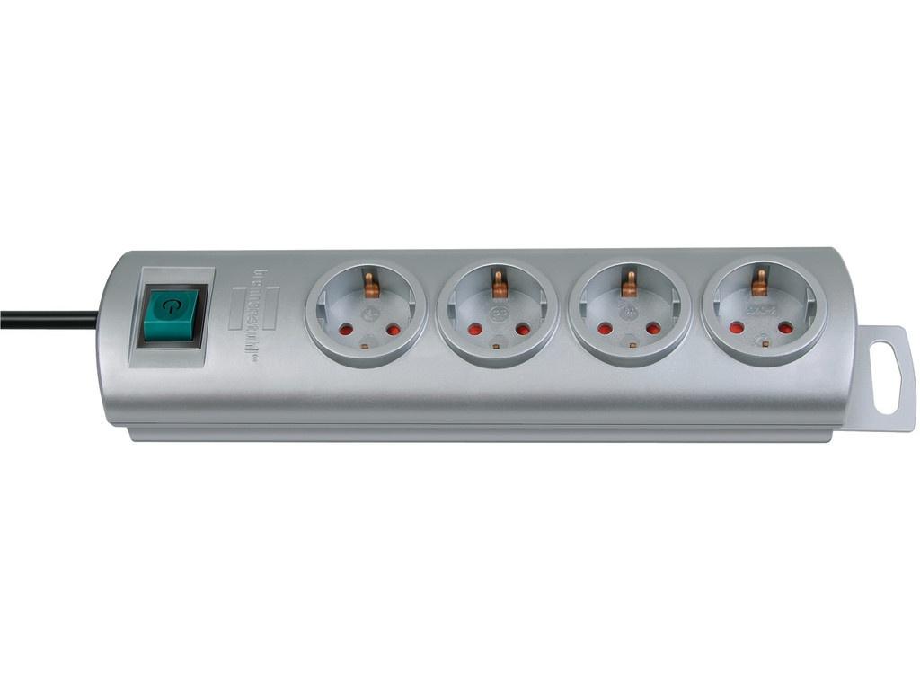 Удлинитель Brennenstuhl Primera-Line, 4 Sockets 1.5m Silver 1153390124