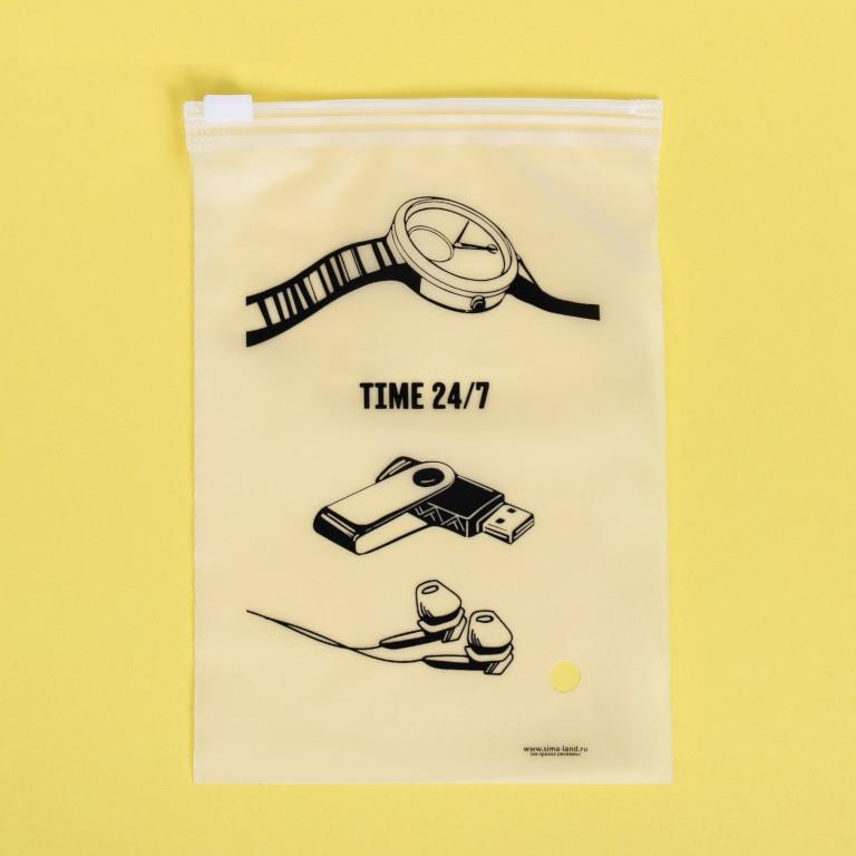 Пакет для хранения вещей Дарите Счастье Time 24/7 9x16cm 3929694