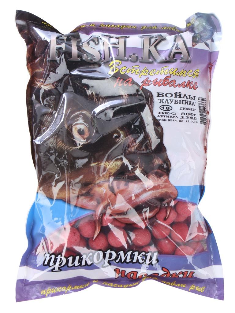 Насадка Fish.ka Бойлы Клубника 18mm 800g 1366