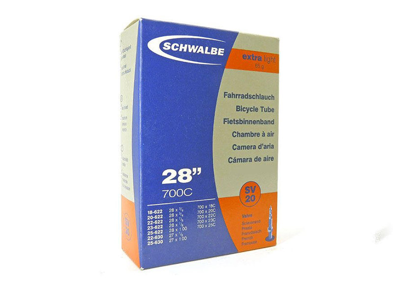 Велокамера Schwalbe SV20 Extra Light 18/25-622(630).28-0.7-1.0 60mm 10426363 цена